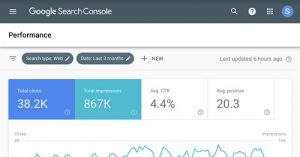 This is an image of Google Search Console banner